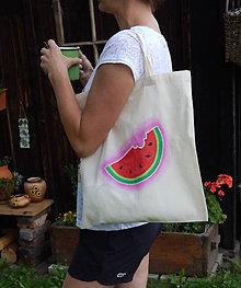Nákupné tašky - Plátená nákupná taška - príchuť melónová - 9766806_