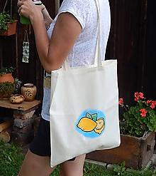 Nákupné tašky - Plátená nákupná taška - príchuť citrónová - 9766808_