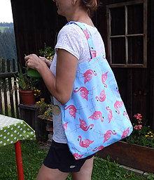 Nákupné tašky - Nákupná taška - Plameniak ZĽAVA z 10,50 na 9,50 € - 9766811_