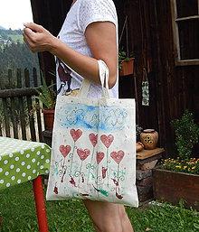 Nákupné tašky - Plátená nákupná taška - Karolkina lúka zľava z 8,50 - 9766823_