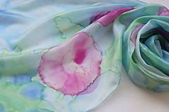 Šály - Ružový záhon..hodvábny šál - 9765727_