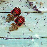 Náušnice - Dragons - sutaškové náušnice - 9767034_