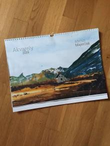 Papiernictvo - Nástenný Kalendár 2019 - akvarelové maľby - 9766670_