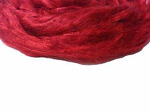 Iný materiál - Hodváb mulberry rubínový 50g - 9764442_