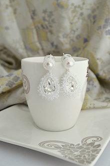 Náušnice - Ana Pearl (Ag925) (Ceylon White) - 9764863_