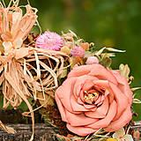 Dekorácie - Veľký prírodný veniec s ružami - 9764646_