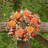 Dekorácie - Prírodný oranžový venček - 9765349_