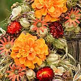 Dekorácie - Prírodný oranžový venček - 9765351_