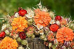 Dekorácie - Prírodný oranžový venček - 9765352_