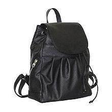 Batohy - Kožený ruksak z prírodnej hovädzej kože v čiernej farbe - 9764460_