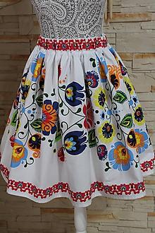 Sukne - Suknička s ľudovým motívom... - 9765019_