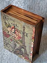 Krabičky - Originální krabička kniha vintage Eiffelovka - 9766976_