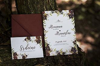 Papiernictvo - Svadobné oznámenie - Bordová - 9764912_