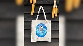 Iné tašky - ♥ Plátená, ručne maľovaná taška ♥ - 9767013_