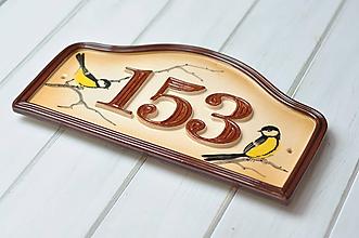 Tabuľky - Číslo domu z keramiky- Veľké - 9766572_