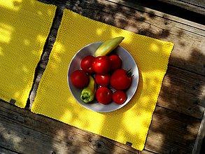 Úžitkový textil - Žlté prestieranie - 9764801_