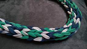 Náhrdelníky - Pletený náhrdelník - 9765485_