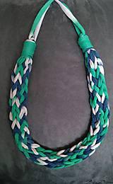 Náhrdelníky - Pletený náhrdelník - 9765503_