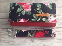 Peňaženky - Peňaženka - samé ruže, sada s kľúčenkou - 9767170_