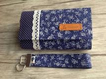 Peňaženky - Peňaženka - modrá je dobrá - sada s kľúčenkou - 9767172_