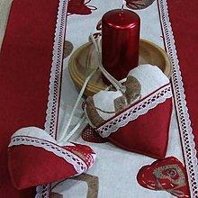 Úžitkový textil - Bordo srdiečka s gombíkmi - srdiečko 13x13 - 9766735_