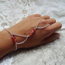 Náramky - Hand chain (achát) - 9764292_