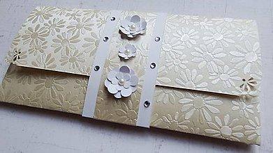 Papiernictvo - Gold flower - svadobná darčeková obálka - 9765550_