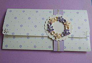 Papiernictvo - levanduľová - darčeková obálka - 9765623_