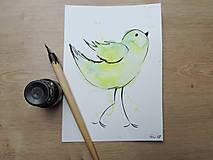Kresby - Zelený vtáčik I. - 9765853_