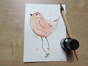 Kresby - Oranžový vtáčik III. - 9765676_