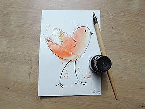 Kresby - Oranžový vtáčik II. - 9765681_