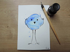 Kresby - Modrý vtáčik II. - 9765812_