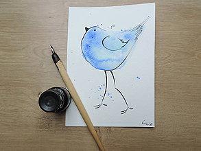 Kresby - Modrý vtáčik III. - 9765822_