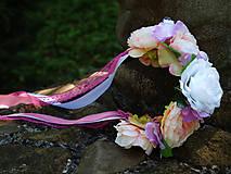 Ozdoby do vlasov - Kvetinová čelenka - 9764654_