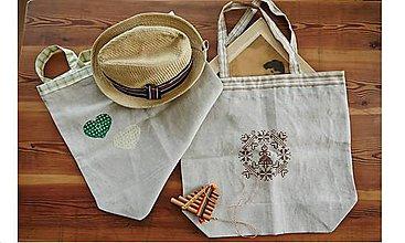 Nákupné tašky - Nákupná taška s výšivkou - 9765225_