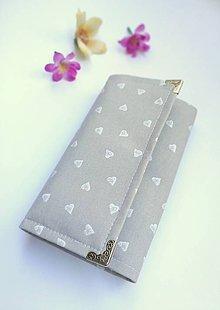 Peňaženky - Peňaženka- biele srdce - 9769904_