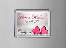 Darčeky pre svadobčanov - Svadobná magnetka - 9769632_