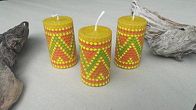 Svietidlá a sviečky - Sviečka z včelieho vosku. - 9767888_