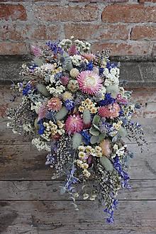 Kytice pre nevestu - Svadobná kytica zo sušených kvetov - 9770280_