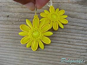 Náušnice - Margaréta...soutache (yellow) - 9769333_
