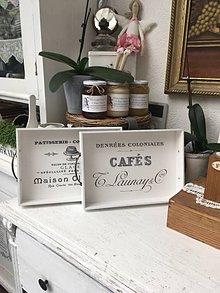 """Nádoby - Biela tácka """"Patisserie"""" alebo """"Cafe"""" - 9767712_"""