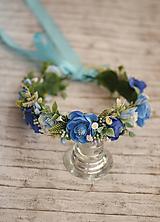 Ozdoby do vlasov - Bohato zdobený kvetinový venček z kolekcie pre Lydiu Eckhardt - 9769608_