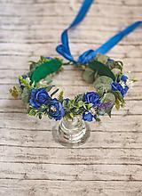 Ozdoby do vlasov - Bohato zdobený kvetinový venček z kolekcie pre Lydiu Eckhardt - 9769655_