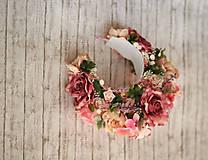Ozdoby do vlasov - Ružová veľká bohato zdobená kvetinová parta z kolekcie pre Lydiu Eckhardt - 9769850_