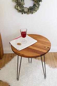 "Nábytok - Sudový príručný stolík ""hairpin"" (Wine barrel side table ""hairpin"") - 9768133_"
