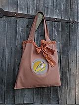 Veľké tašky - Vtáčkomilka - veľká nákupná taška - 9767866_