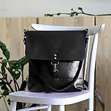 Batohy - Kožený batoh Lara (čierny) - 9767738_