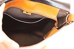 Batohy - Kožený batoh Lara (čierny) - 9767739_