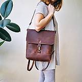 Batohy - Kožený batoh Lara (čierny) - 9767740_