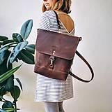 Batohy - Kožený batoh Lara (čierny) - 9767741_